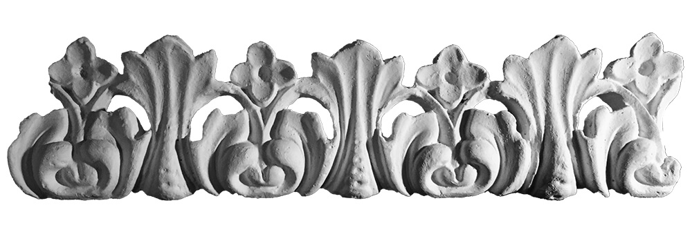 Flower And Leaf Plaster Coving Decoration